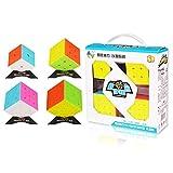 RUIGIN Geschwindigkeits-Würfel-Set, Magic Cube Set von 2x2 3x3 4x4 5x5 Puzzle-Würfel mit Gift Box, Stickerless Geheimnis Tutorial for Speed Cubes (2X2 3X3 4X4 5X5 Coloful)