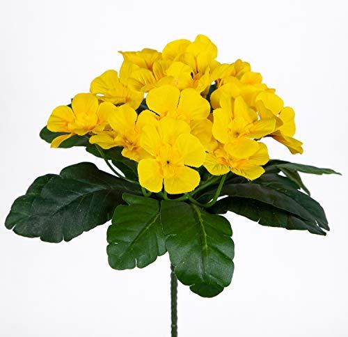 Primelbusch 24x22cm gelb mit 20 Blüten PM Kunstblumen Kunstpflanzen künstliche Primel Schlüsselblume