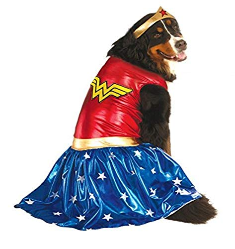 Disfraz Oficial de la Mujer Maravilla de DC Comic, Regalo de superhéroe, tamaño XXL