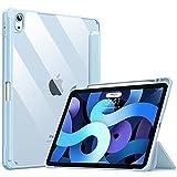 TiMOVO Funda Compatible con Todo-Nuevo iPad Air 4ª Generación (10,9 Pulgadas, versión 2020), Estuche Protector Plegable con Ranura para Ipencil, Admitir Auto Sueño/Estela y Touch ID - Azul Claro