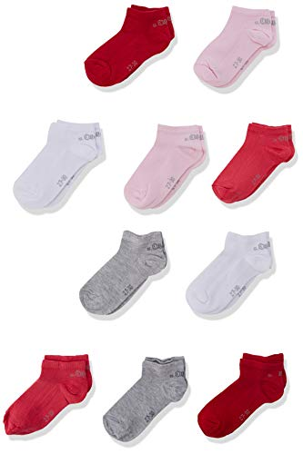 s.Oliver Socks Mädchen S24160 Füßlinge, Rosa (Orchid Pink 4145), 35-38 (10er Pack)