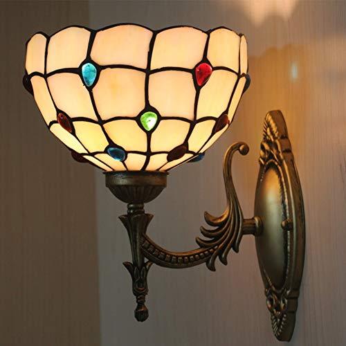 Tiffany wandlamp, handgemaakte glas in lood wandlamp decor gang slaapkamer woonkamer TN055