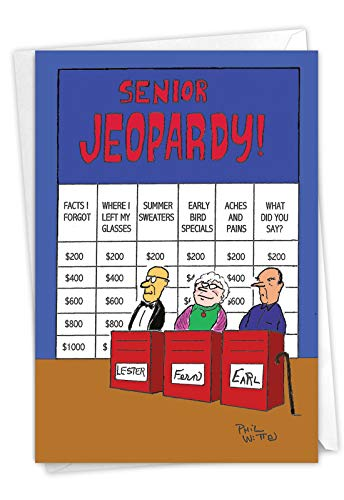 Senior Jeopardy! Funny Birthday Card