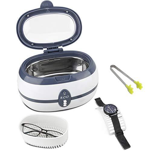 Furado Ultraschallreiniger Reinigungsgerät Ultraschallreinigungsgerät Digital Ultrasonic Cleaner Reiniger mit Uhrenhalter und Reinigungskorb Ultraschallbad für Brillen Schmuck Uhren Zahnprothesen