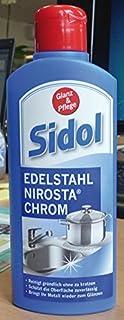 Sidol Glanz und Pflege für Edelstahl, Nirosta und Chrom - 250 ml