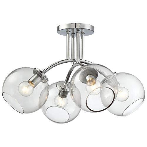George Kovacs P1845-077 - Lámpara de techo (4 luces, 240 W, incandescente, cromada)