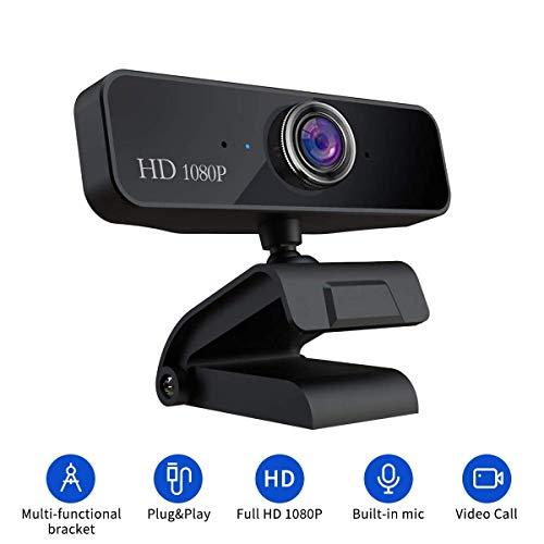 Guo duo Webcam HD 1080P für PC, Laptops und Desktop Webkamera Video mit Mic USB Webcam für Video Streaming, Videoanruf, Konferenz, Online-Unterricht, Spiel