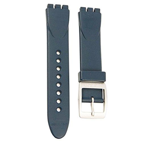 Correa caucho azul reloj Swatch Irony Big Extrados Aqua AYGS7008 17mm