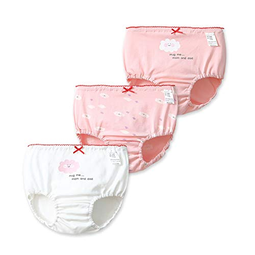 Havanadd Havanadd Baby Höschen Kinder Unterwäsche Weiche Baumwolle Nette Mädchen Unterwäsche Verschiedene Höschen Kurze Für Kinder Vogue Unterwäsche (3er Pack) kleine Mädchen Kurze Slips (Größe : 90cm)