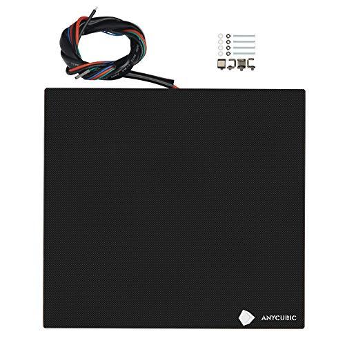 ANYCUBIC Ultrabase 3D Drucker Plattform Platte Durable Build Oberfläche für Mega Serie Prusa i3 MK2 MK3 Heatbed (Ultrabase Glas + Heatbed 240x220mm mit Klammern)