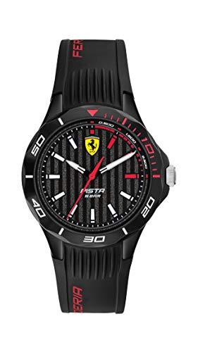 Scuderia Ferrari Herren Analog Quarz Uhr mit Silikon Armband 0840038