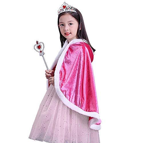 Vicloon Capa Disfraces de Princesa Costume para Niñas y Accesorios Ti