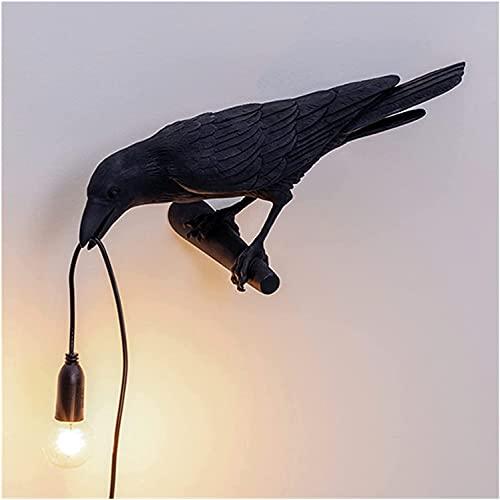 Lámpara de mesa Lucky Bird luz nocturna, salón, dormitorio, lámpara de noche decorativa (negro)
