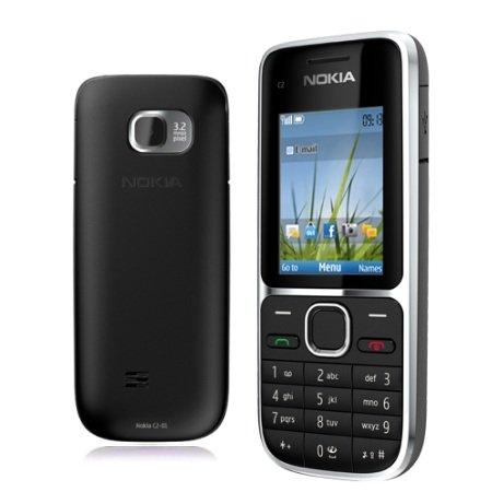 Nokia C2-01 Black / Schwarz H3G Kompakt Handy Ohne Simlock