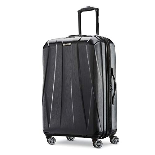 Samsonite Centric 2 Hardside Expandable Luggage with Spinner Wheels Black CheckedMedium 24Inch