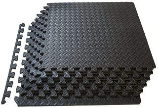 Rabinyod Bulan 6 Tiles/Set Wholesale EVA Foam Floor Mat Interlocking Exercise Gym Pad Black EC (Black, 42)