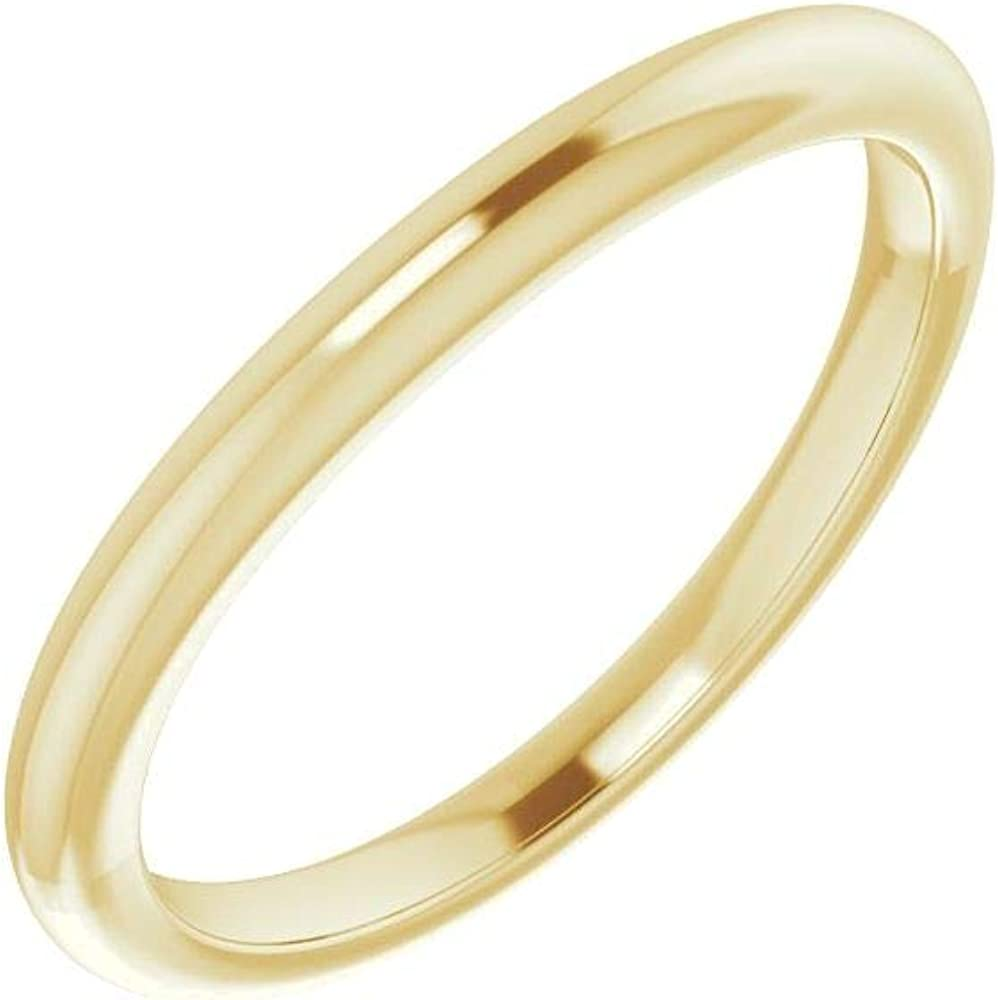 Bonyak Jewelry Finally resale start 10kt Yellow Gold Band Sale SALE% OFF Ring for Siz in Round 5.5mm