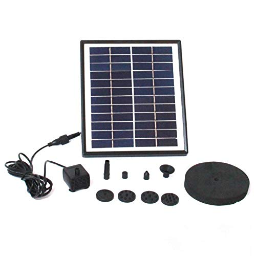 12V 5W Solar Waterpomp, zonnepaneel energie Fonteinen waterpompen, Garden Pool Pond Rockery Fountain Pompkit