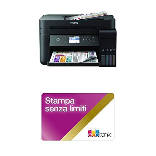 Epson Ecotank 3750 Stampante, Wi-Fi Direct, Ethernet e App di Stampa, Amazon Dash Replenishment Ready con Unlimited Printing Card