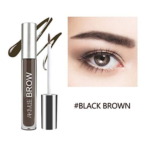 Lucoss Sourcils Gel - Crayon à sourcils imperméable et gel sourcil semi permanent de longue Crayon de Maquillage Eyebrow Colors Gel With Brush Set, brun foncé, brun clair, noir
