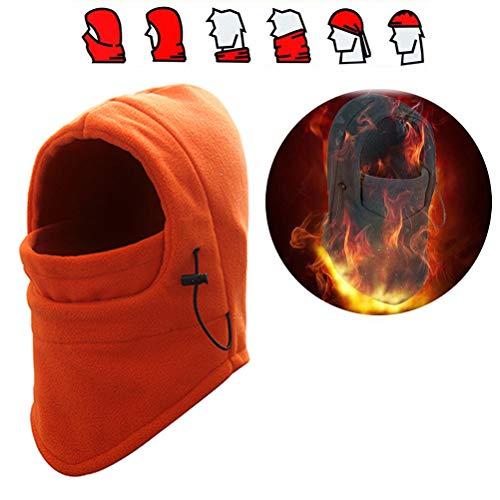 Balaclava gezichtsmasker, winddicht volgelaatsmasker verstelbaar skimasker voor fietsen, skiën, motorrijden, warme bivakmuts, wintersport, outdoor oranje