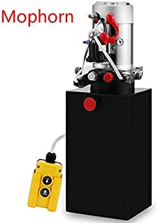 Mophorn 6 Quart 12V Hydraulic Pump Dump Trailer Power Unit (Steel, 6 Quart/Double Acting)