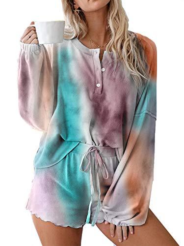Pijamas Mujer Lencería 2 Piezas Conjunto de Ropa de Dormir