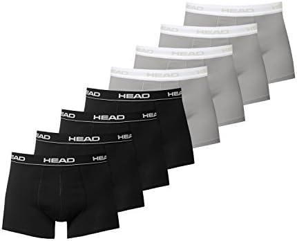 Head 841001001 Confezione 8 mutande boxer basic da uomo Nero L
