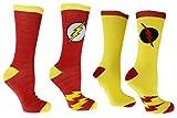 • DC Comics Flash Reverse Flash 2 Pack Casual Crew Socks,Multi Colored, Fits Shoe size-6-12