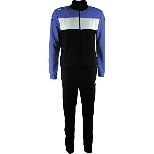 Kappa Manarola Trainingsanzug, Mehrfarbig (schwarz/blau/weiß), XXS