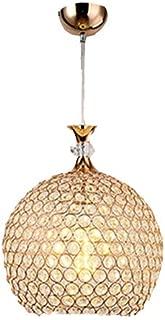 Chandelier Rustic,Style Modern Minimalist LED Creative Personality Crystal Single Head Pendant Light Dining Room Balcony Porch Aisle Lights