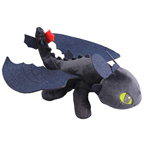 uiuoutoy How to Train Your Dragon Toothless Night Fury Plush 10""