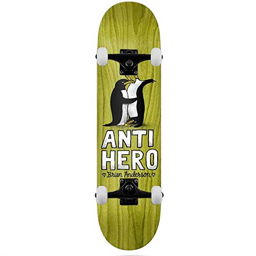 Anti Hero Deck B.A. Lovers II - Skateboard completo, 20,8 cm