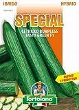 Sementi di ortaggi ibride e selezioni speciali ad uso amatoriale in buste termosaldate (80 varietà) (CETRIOLO BURPLESS TASTY GREEN F1)