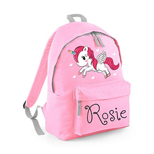 Personalised Backpack, School Bag, Rucksack, Any Custom Name with Variety of Designs for...