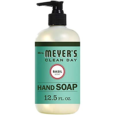 Mrs. Meyer's Clean Day Liquid Hand Soap, Basil Scent, 12.5 ounce bottle