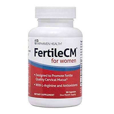 FertileCM Supports a healthy uterine lining (90 Capsules, One Month Supply) from Fairhaven Health