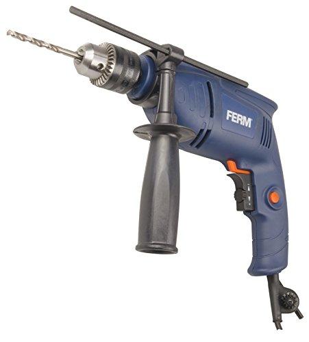 FERM PDM1046 Impact drill 500W, Noir/Bleu