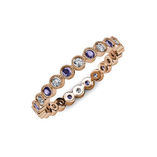 Diamond Iolite Jewelry Set - 4
