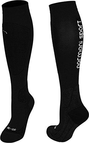 normani Coolmax Sportsocken/Kompressionsstrumpf Competition- Kompressionsklasse Farbe Sport/Schwarz Größe 43/46