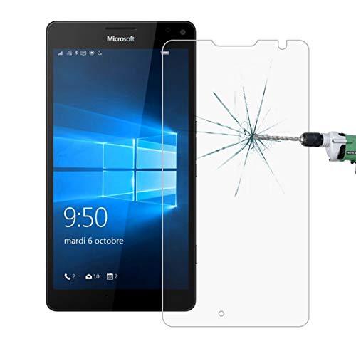 Mobile Phone Tempered Glass Film 50 PCS for MicroSoft Lumia 950 XL 0.26mm 9H Superficie Durezza 2.5D a prova di esplosione pellicola di vetro temperato, nessun pacchetto di vendita al dettaglio Temper