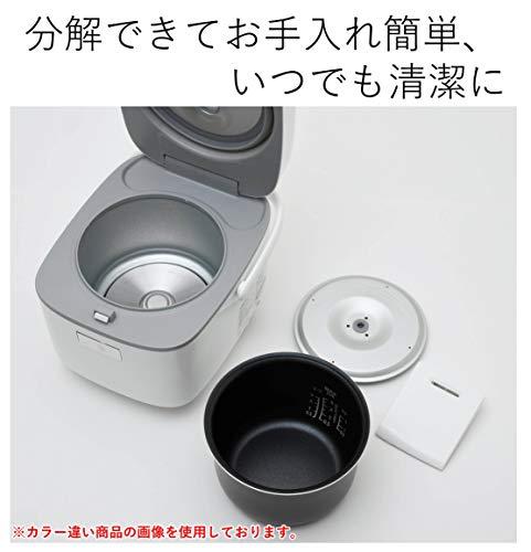 [山善] 炊飯器 3合 マイコン式 6種類炊き分け機能 予約 保温 玄米 ブラック YJC-300(B) [メーカー保証1年]
