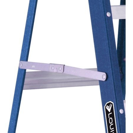 Louisville Ladder W-3215-06 6 ft. Fiberglass Ladder, Type II, 225 Lbs Load Capacity