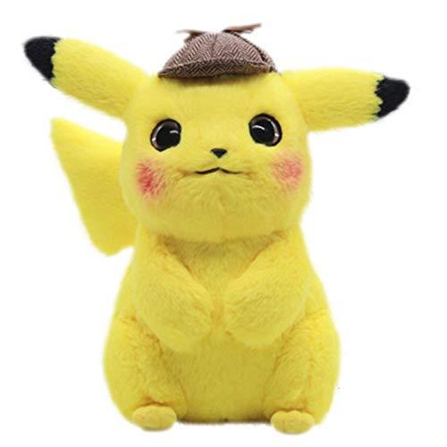 ZHQIC Peluche Détective Pikachu Pokémon Jeu d'Animation pour Enfants Pokémon Pikachu Cadeau d'Anniversaire pour Enfants (30 cm)
