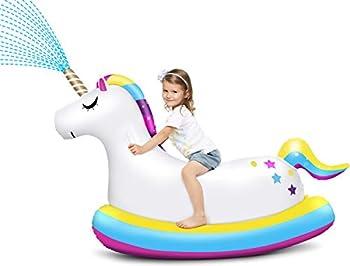 Laycol Inflatable Unicorn Pool Float Ride On Sprinkler