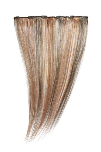 American Dream - A1/QFC12/18/6/6OR/MP67 - 100 % Cheveux Naturels - Barrette Unique Extensions à Clipper - Couleur 6/6OR/MP67 - Brun Foncé Cendré / Blond Fraise / Cuivre Léger - 46 cm