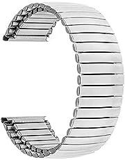 Guardia cinturino in acciaio inox elastico in acciaio inox 16mm 18mm 20mm 22mm 24mm Sostituzione cinturino di ricambio cinturino universale cinturino braccialetto braccialetto argento braccialetto Bea