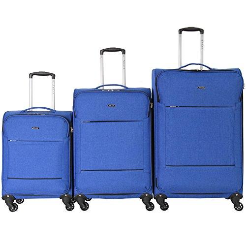 Shaik Serie FLEDER Design PVG 3 maten M | L | XL | Set | Softcase zachte bagage kofferset, 4 x 360 graden rollen, cijferslot