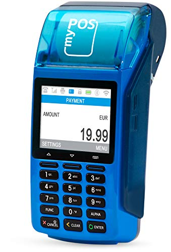 myPOS Combo (Bleu) - Un Terminal Carte Bancaire | Imprimante à Papier | Paiements Sans Contact