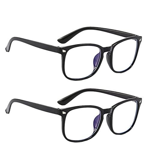 EXCEART 2 peças de óculos de bloqueio de luz azul masculino e feminino clássico grosso armação quadrada